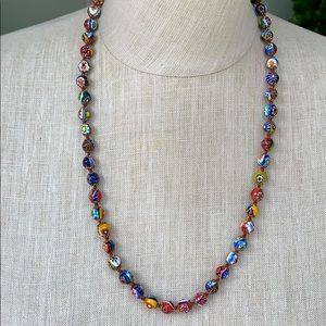 Murano glass beaded necklace from Italy.